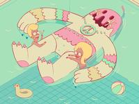 Happy Hippy Illustration