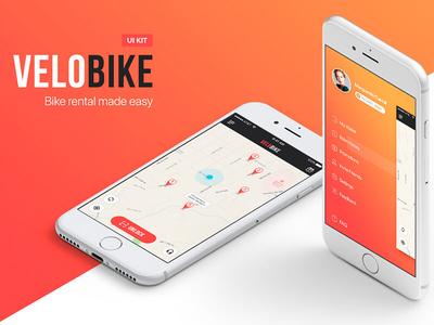 VeloBike Rental App UI Concept