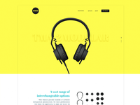 Colorful redesign for aiaiai headphones