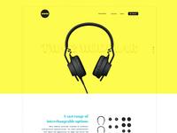 Colorful redesign for aiaiai headphones clean minimal flat interfacedesign uxdesign uidesign ux ui
