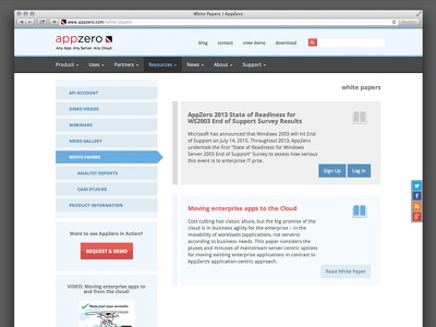 Appzero Interface – Secondary Pages blue red gray appzero interface signup
