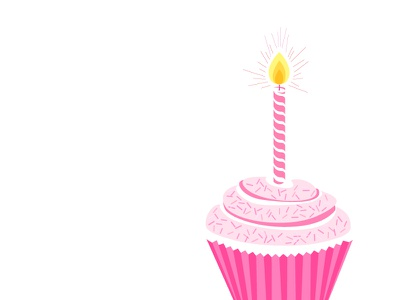Awesome Foundation Miami Turns Two! vector illustration cupcake pink celebration anniversary non-profit grants