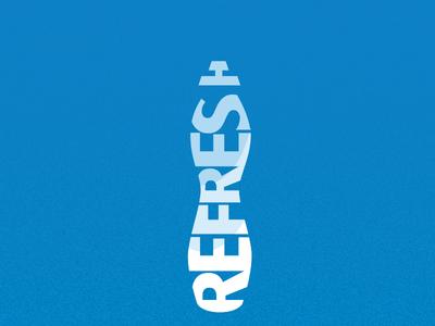 Refreshing water bottle