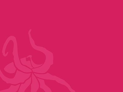 Octopus critter monotone fuchsia pink illustration miami octopus