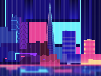 Neon Life pink logodesign lifestyle illustration colours bright life neon lights neon city cyberpunk