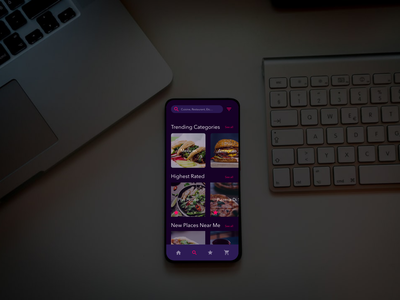 Delivr Search Page pho motion graphics phone app delivery food ui vector ux website color design