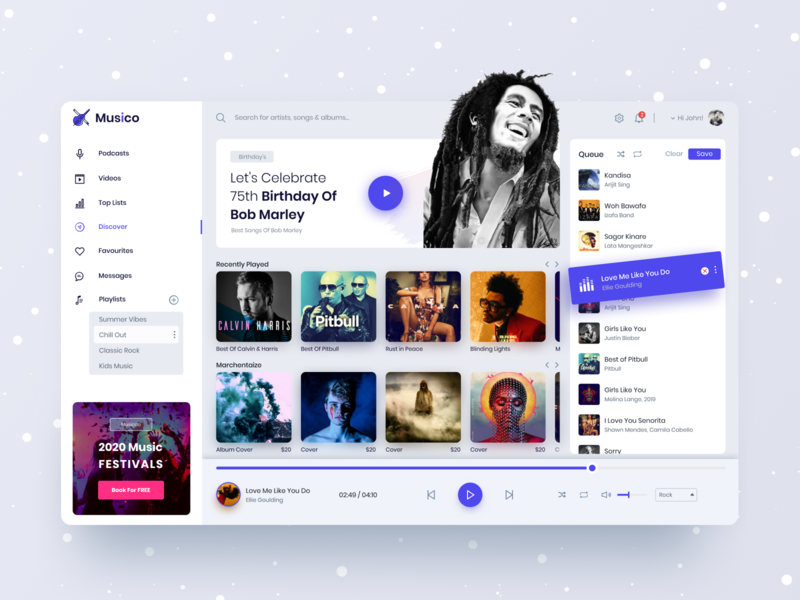 Music Player App player website design gradient ux anupdeb ui typography creative ecommerce minimal app design music player event product design music app design music app music web design