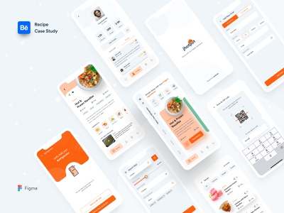 Jhotpot Recipe App || Case Study recipe case study case study design ui ux anupdeb typography mobile ui morden mobile app minimalism creative jhotpot mobile food app design food recipe app mobile app