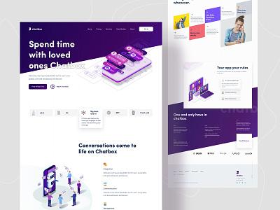 Chatbox Landing Page || Product Landing minimalism minimal landing website design web webdesign website 2020 best shot ux ui creative anupdeb web design