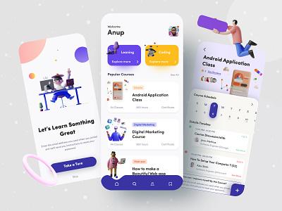 Learning App || Minimal App Concept minimal 2020 mobile apps 2020 trend 2020 best shot creative 3d minimal apps mobile mobile ui mobile design mobile apps courses learning app