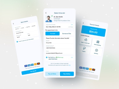Medihelp || All in One payment method medical app ux typography modern payment medihelp minimal design minimal mobile ui anupdeb ui creative mobile app design mobile app mobile