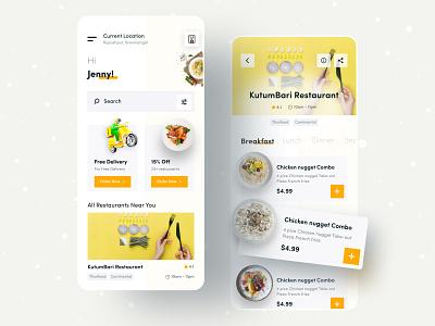 Food Express appstore mobile ui minimal food app fooddeliveryapp food application food and drink ux ui creative mobile app design mobile food app apps mobile design