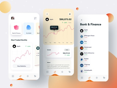 Finance App financial finance business finance app mobile app anupdeb morden minimal app design minimal app mobile design mobile finance mobile application mobile app design mobile ui
