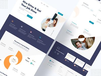 Find Babysitter || Grapeslab grapeslabteam grapeslab landing page homepage minimal minimal landing page ux ui top designer top design branding web deisgn