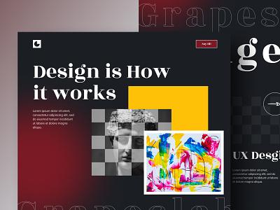 Design Agency anup art design bold design ui design ux design new trend grapeslab grapeslabteam anupdeb typography creative hire freelancer best shot design agency website web design