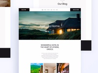 Hello Dribbble : Hotel Website Design