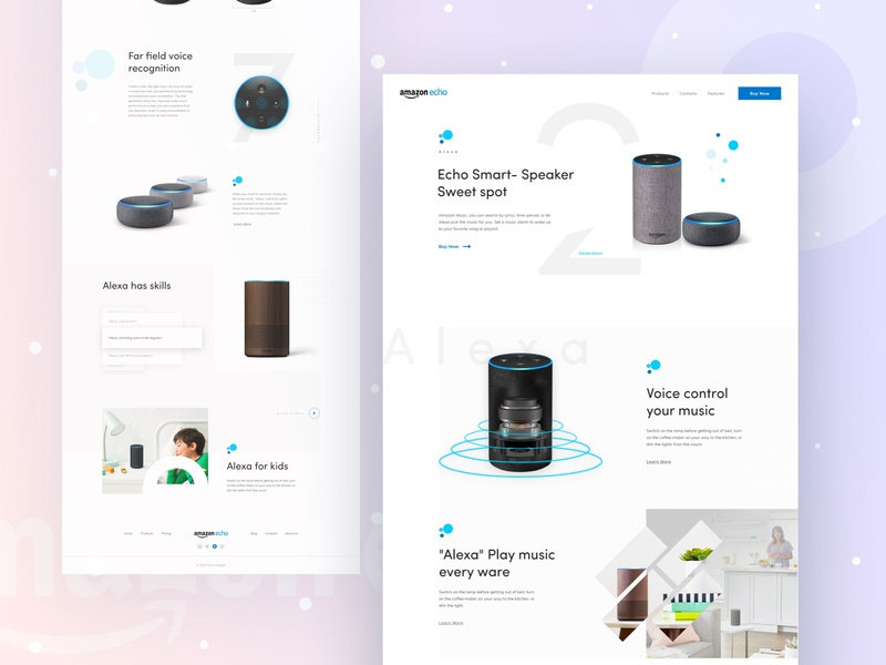 Amazon Eco oogle creative landing page website website banner uinugget teamuinugget dribbble best shot amazon eco amazon