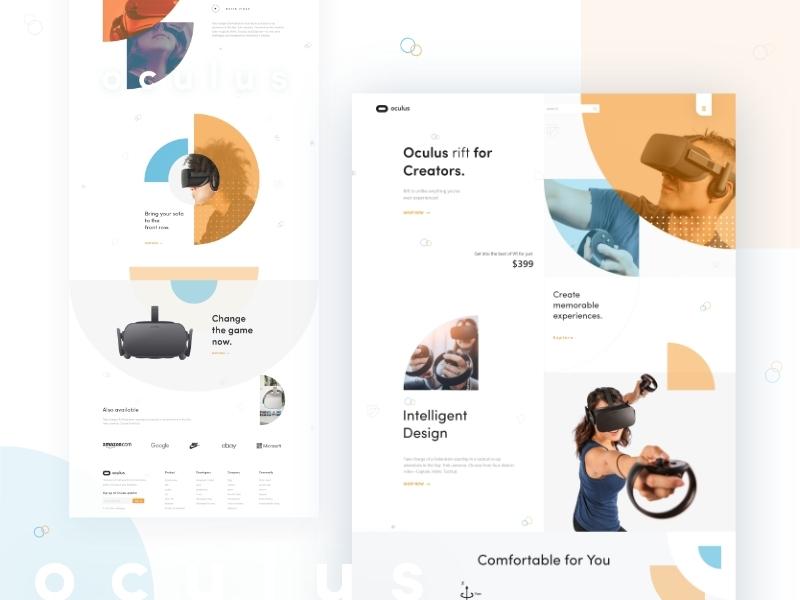 Oculus Rift UI branding best website 2019 landing page creative  design uinugget uidesign oculus rift best design best website website
