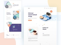 Minimal Industrialized product landing Concept