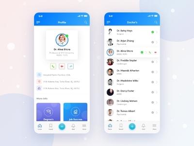 Dr. Apps UI Design live chat chat app doctor app mobile uxui uiue best shot app branding uxuidesign anupdeb gradiant mobile ui mobile app mobile app design ui designer app design