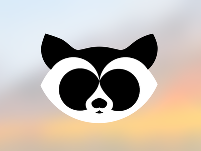 Raccoon study animal logo raccoon