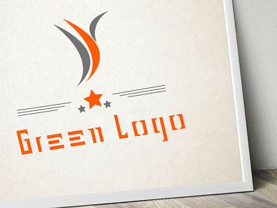 Green Logo studio presentation packaging mockup marketing branding artboard app
