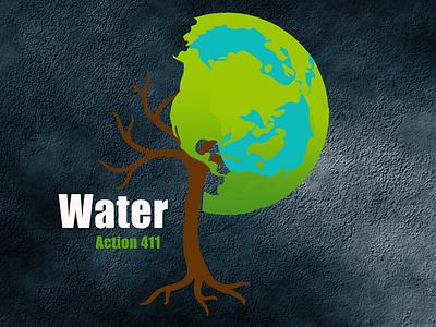water action 411 studio presentation packaging mockup marketing branding artboard app