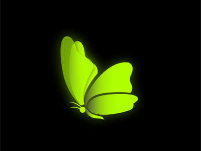 Butterfly web vector icon ux ui presentation packaging typography design illustration logo