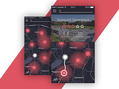 Rolltogether – Skate App Concept design concept app ux ui