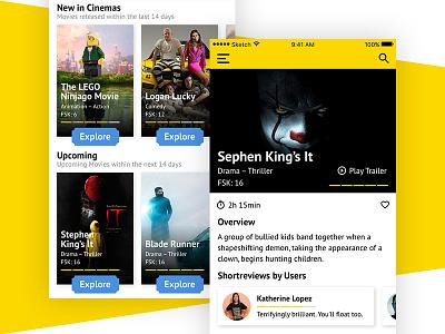 CinemaTicketUI-Concept concept ticket movie cinema interfacedesign interface design ux ui