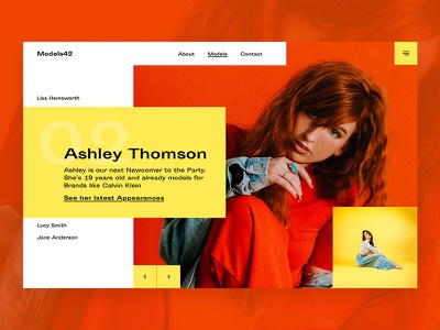 Model-Agency UI-Concept contrast type font layout design interface ux ui agency model