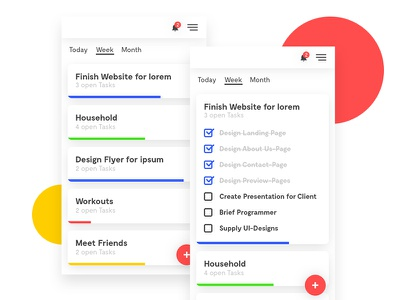 Todo/Task-Manager colorful interface design ux ui app mobile manager task todo