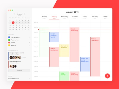 Calendar/Schedule Interface concept app dashboard ui interface schedule calendar
