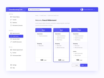 Banking-Dashboard concept web website sketch app banking design interface ux ui clean dashboard