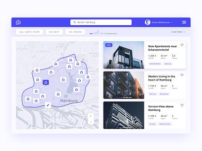 Real Estate Platform Concept sketch design website webapp realestate platform dashboard ux ui concept clean