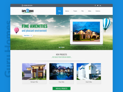 Guru Homes Website Design