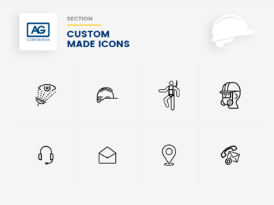 AG Website icon Designs