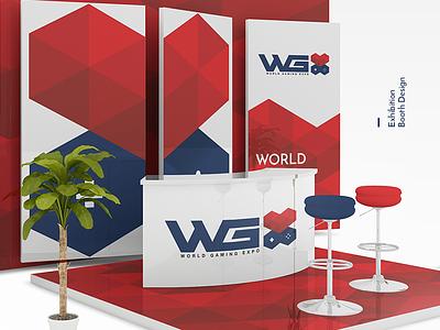 WGX Exhibition Booth Design show stand expo logo world gaming gaming game logo game exhibition branding exhibition booth design exhibition stand joystick logo x logo wgx logo