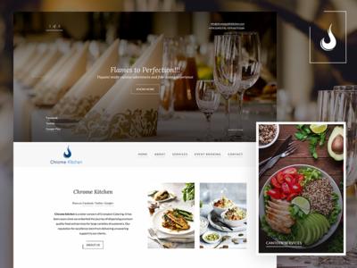 Chrome Public Kitchen Website Design