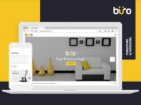 Buro Furnitures Website Design Mockup