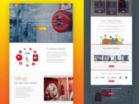 Fire Kool Website Home Page Design