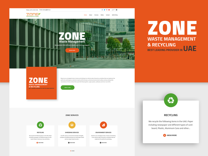 Zone Management Website by Sharaful Nizar on Dribbble