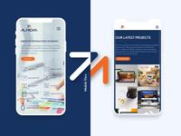 Almeka Landing Page Device Preview