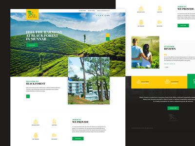 Munnar Black Forest Website Design