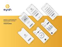Eyrah Mobile App Wireframes