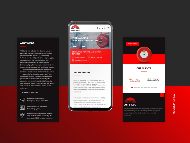 Aits Website Design Mobile View by Sharaful Nizar on Dribbble