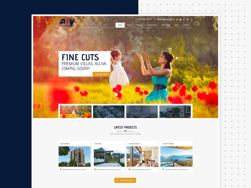 Aby Developers Website Design full screen website web design ui design website design mobile website website icon design mobile apps ux design modern website website mockup creative website builder website construction website construction company device mockup