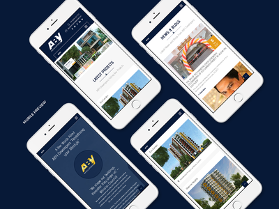Aby Developers Website Design Mobile View