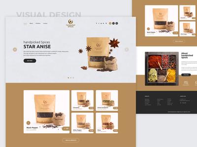 Handpicked Spices Website Design