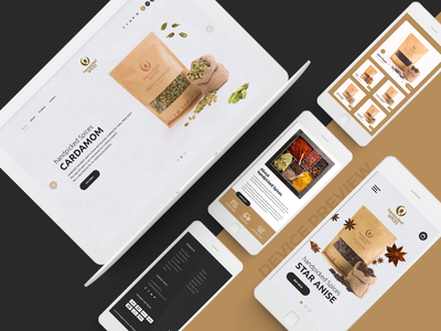 Handpicked Spices Website Design Device Preview